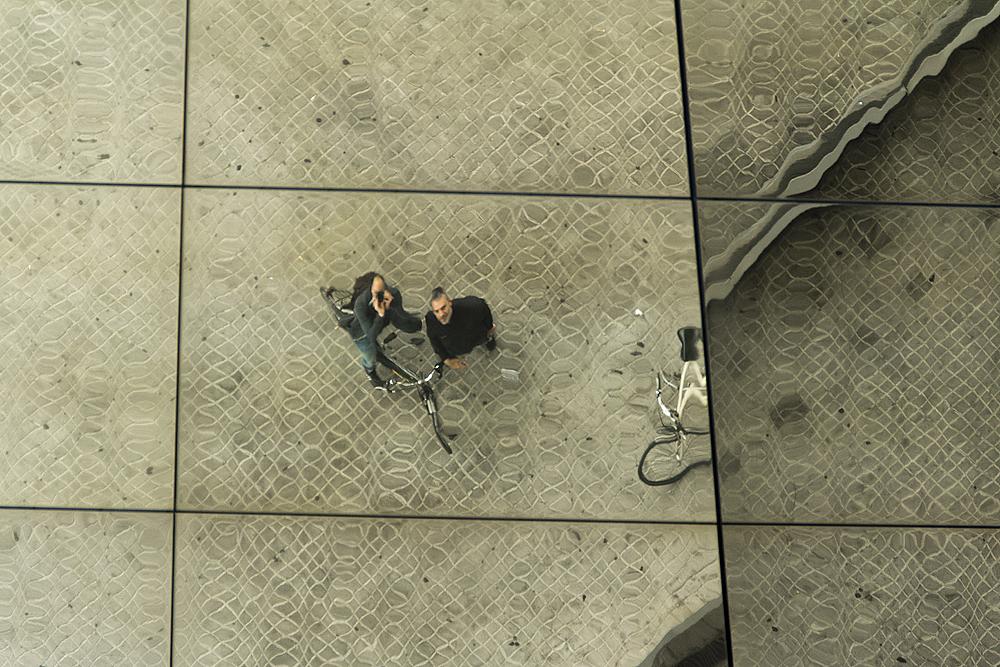 Barcelona, Mercat Del Encants, Spiegelung