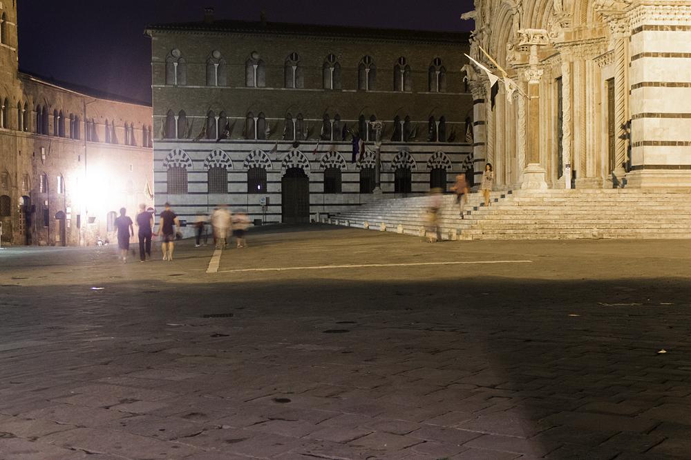 Siena, Piazza del Duomo, nacht
