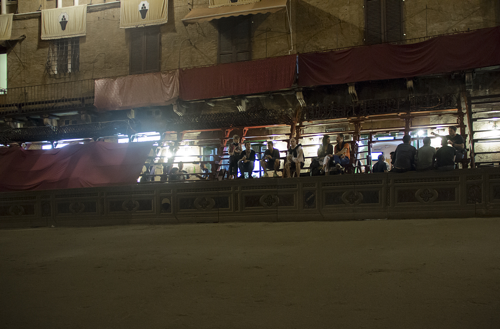 Siena, Piazza del Campo, Nacht