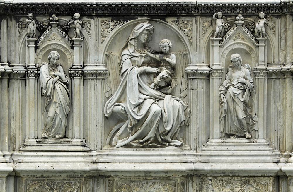 Siena, Piazza del Campo, Fonte Gaia