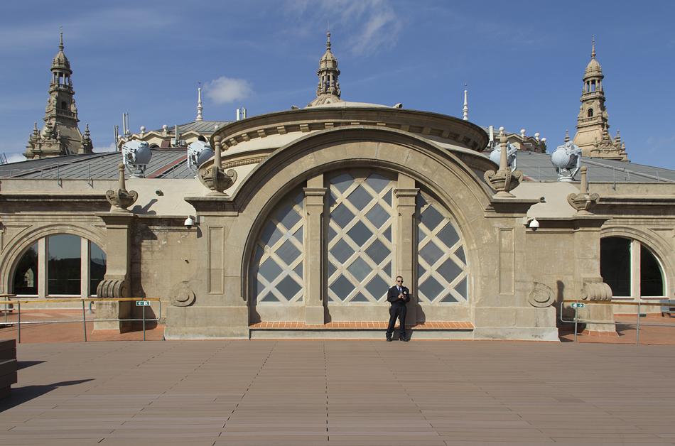 Barcelona, Dach des Palau Nacional