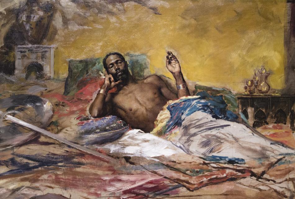 Barcelona, Antoni Fabrés, Warrior, Museu Nacional d'Art de Catalunya