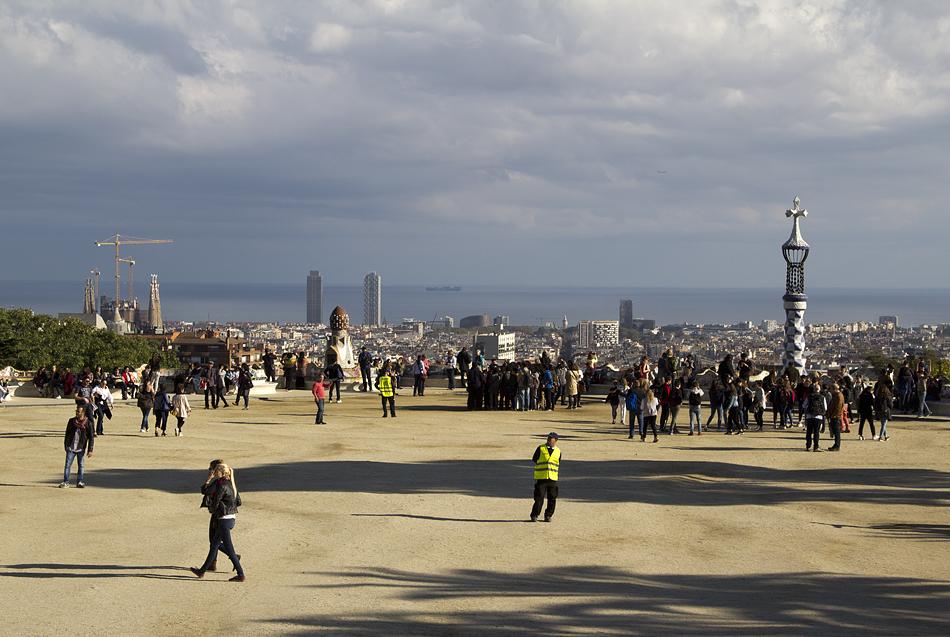 Barcelona, Park Güell, Terrasse
