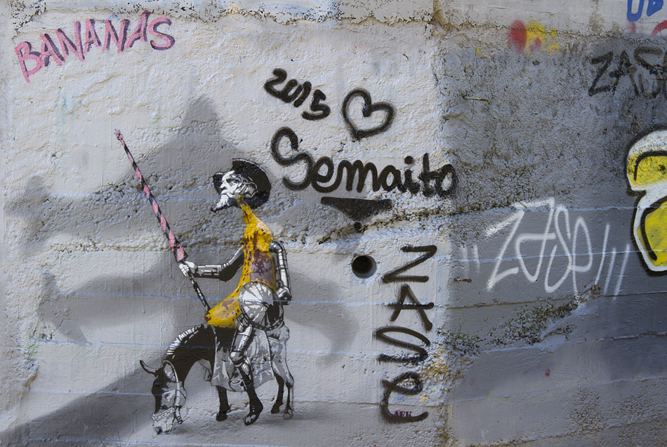 Barcelona, Park Güell, Street Art, Don Quijote