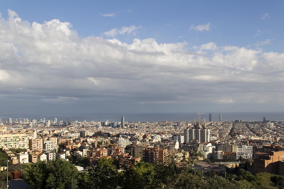 Barcelona, Park Güell, Ausblick, Panorama