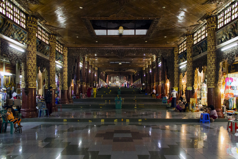 Yangon, Shwedagon Pagoda, South Entrance