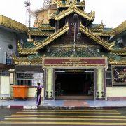 Yangon, Sule Pagoda, Entrance