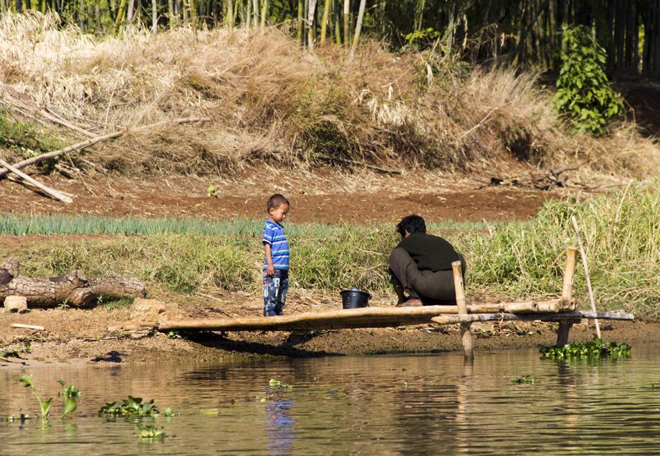 Myanmar, Inle-See, Ufer