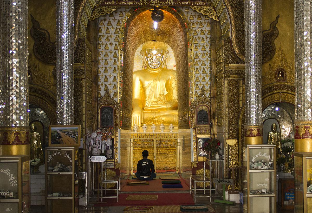 Myanmar, Nyaung Shwe, Buddha in der Yadana-Man-Aung-Pagode