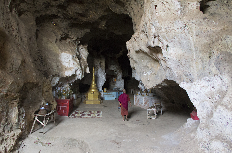 Myanmar, Nyaung Shwe, Tha-Eing-Pagode (Felsentempel)