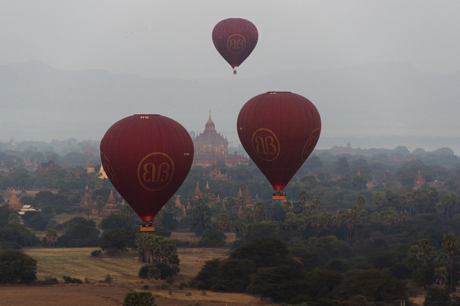 bagan, Blick vom Nanmyint-Turm nach Westen