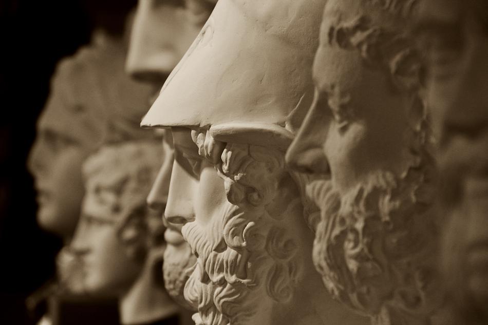 Abguss-Sammlung Antiker Plastik der Freien Universität Berlin, Gips, Porträtbüsten