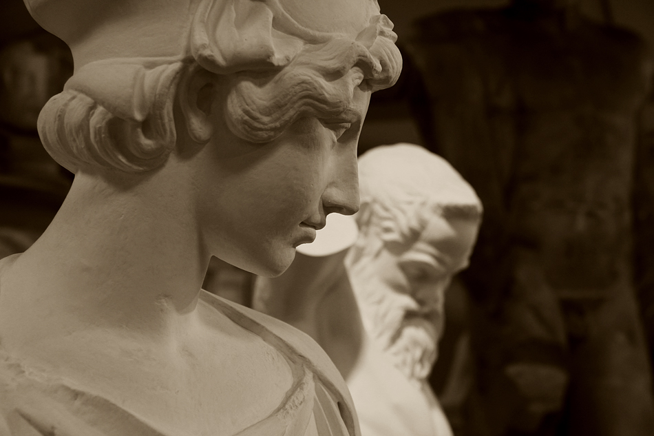 Abguss-Sammlung Antiker Plastik der Freien Universität Berlin, Gips, Athena-Marsyas-Gruppe des Myron