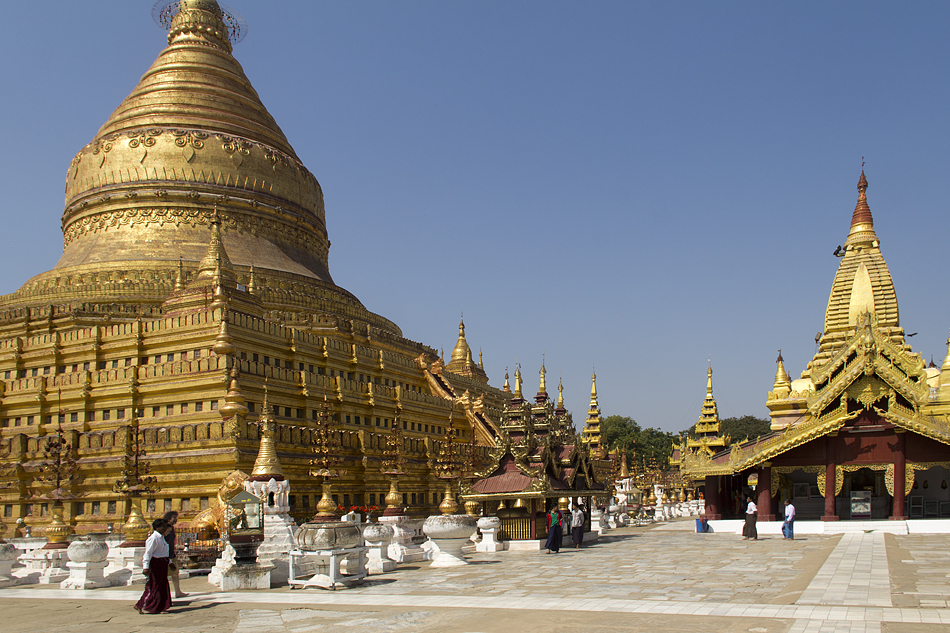 Bagan, Nyaung-U, Shwezigon-Pagode, stupa