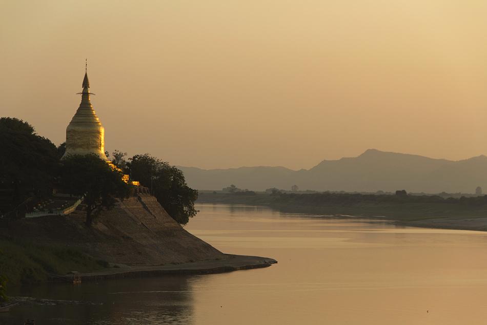 Bagan, Lawkananda, Ayeyarwady, Sonnenuntergang