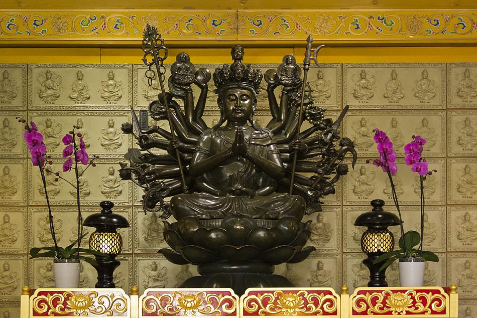 Amsterdam, Statue im He Hua Tempel