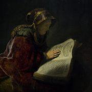 Amsterdam, Rijksmuseum, Rembrandt, Lesende alte Frau
