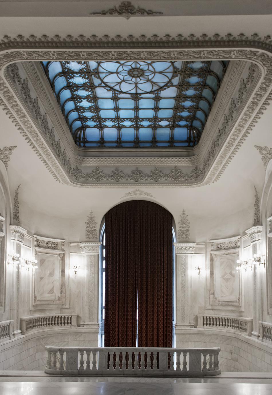 București, Palatul Parlamentului, Interior, Treppenhaus (Floor P1)