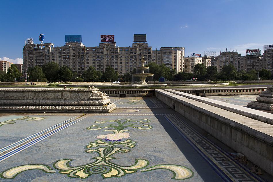Bukarest, Piata Unirii, Brunnen