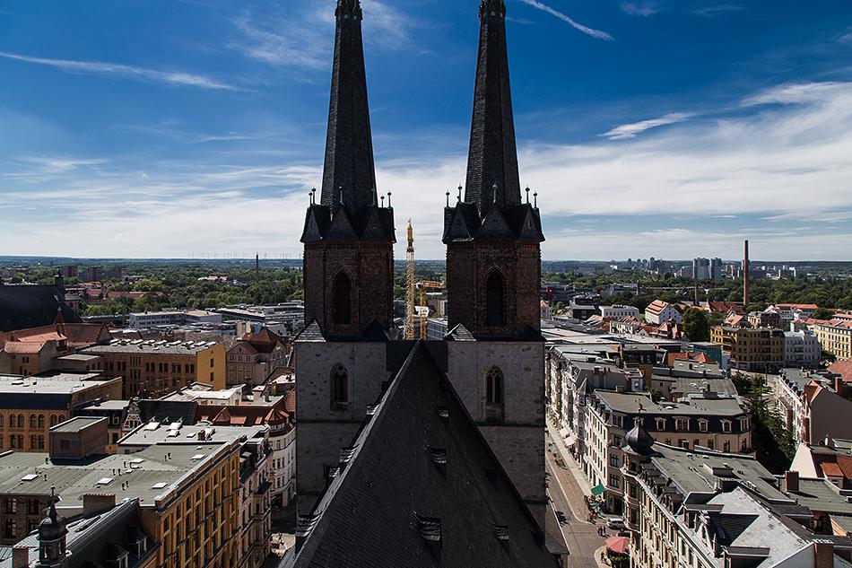 Halle Saale, Westtürme der Marktkirche unser Lieben Frauen