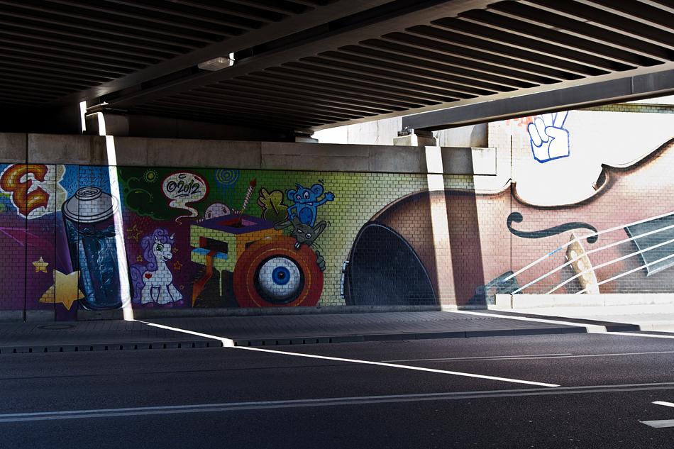 Halle Saale, Delitzscher Straße, Unterführung, Streetart