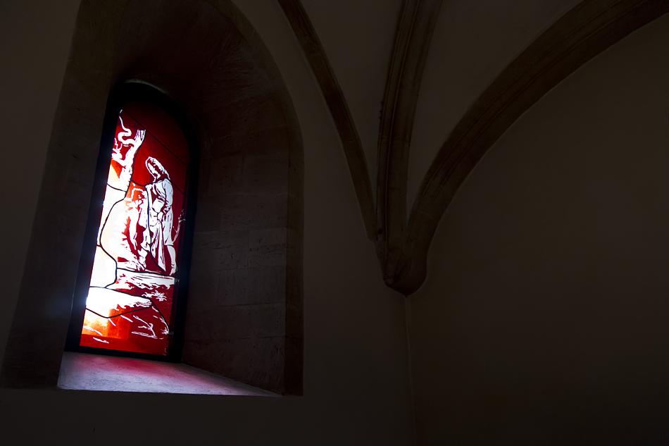 Naumburger Dom, Elisabethkapelle mit Fenster von Neo Rauch