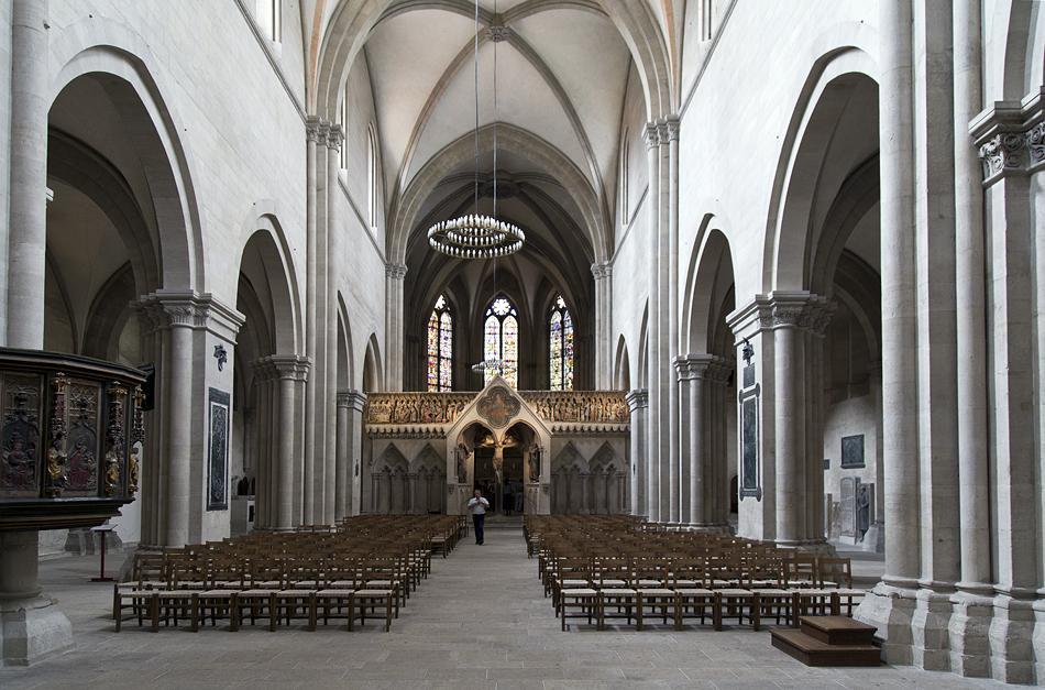 Naumburger Dom, Mittelschiff und Westchor