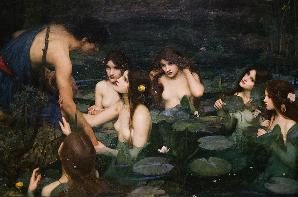 Manchester Art Gallery, John William Waterhouse, Hylas and the Nymphs