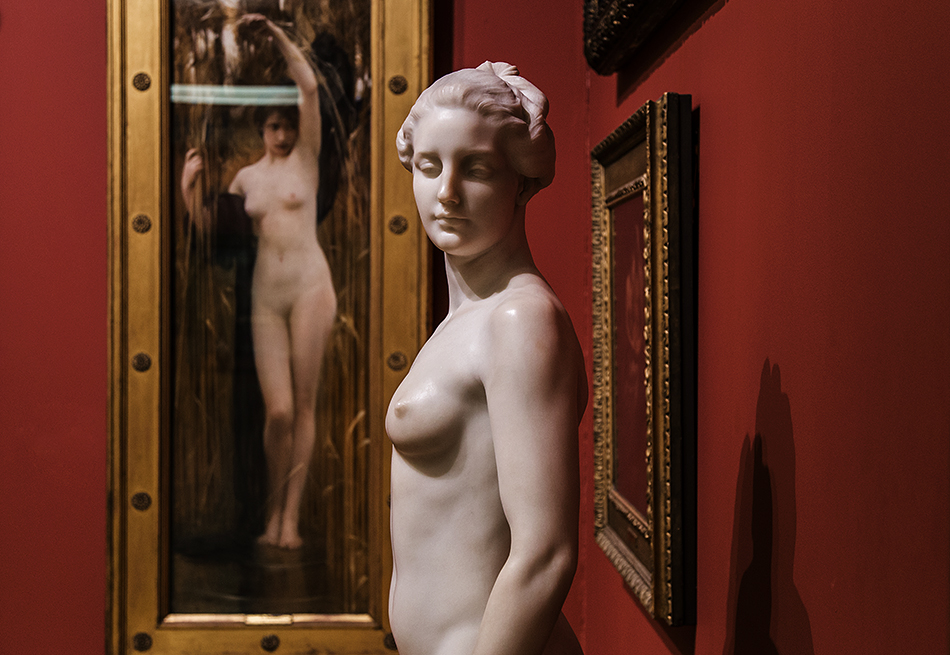 Manchester Art Gallery, Arthur Hacker, Syrinx; Francis Derwent Wood, Atalante