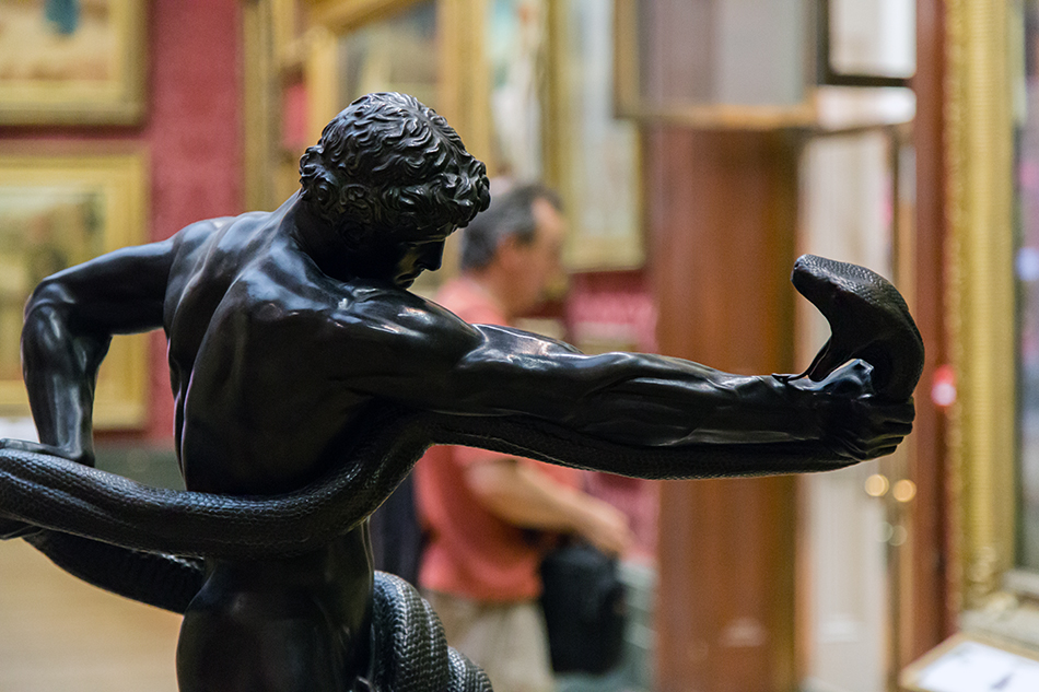 Liverpool, Walker Art Gallery, Frederic Leighton, An Athlete Wrestling with a Python