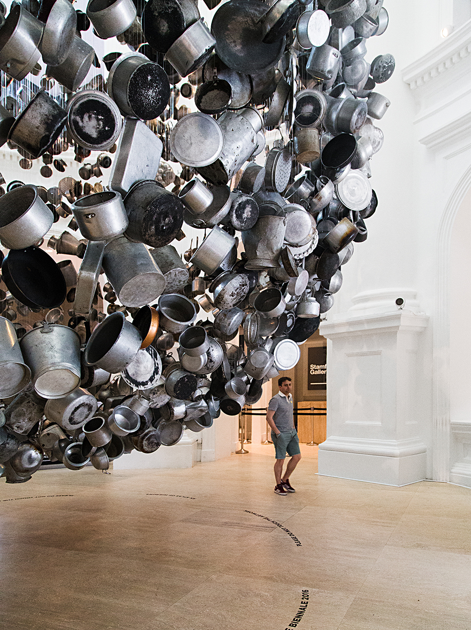 Subodh Gupta, Cooking the World, Singapore Biennale 2016, Fabian Fröhlich