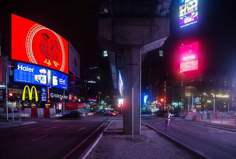 Fabian Fröhlich. Kuala Lumpur, Jalan Sultan Ismail / Jalan Bukit Bintang at Night
