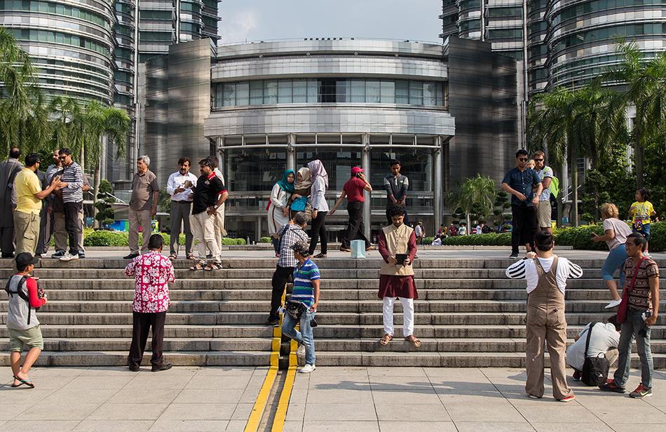 Fabian Fröhlich, Kuala Lumpur, Petronas Twin Towers, Tourists