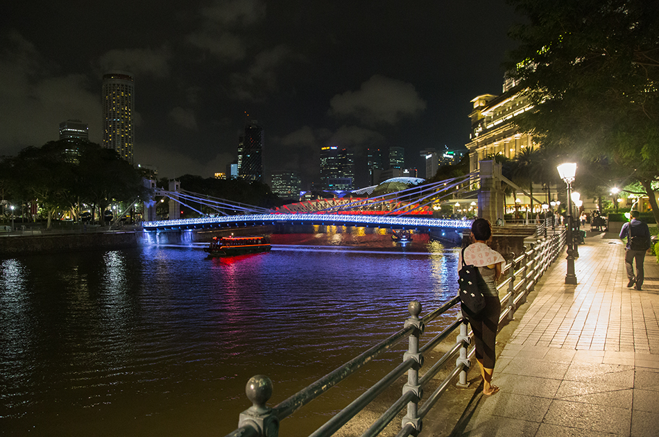 Fabian Fröhlich, Singapore, Singapore River and Anderson Bridge