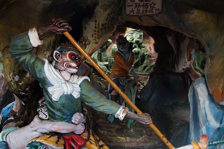 Fabian Fröhlich, Singapore. Haw par Villa, Monkey God Battles Scarlet Child