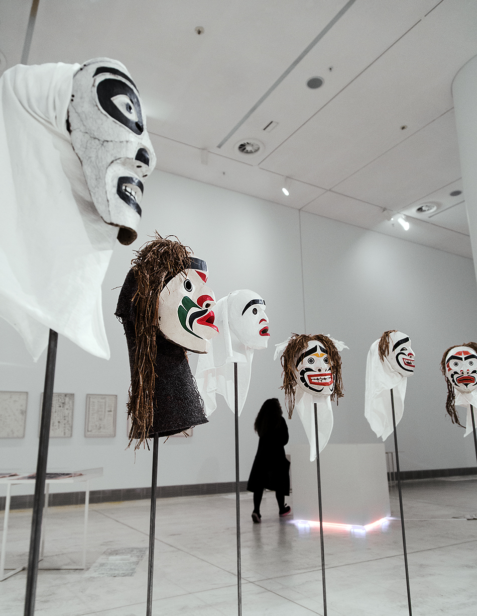 Beau Dick, Masks from the series Atlakim, EMST, documenta 14, Athen, Fabian Fröhlich