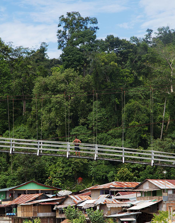 Fabian Fröhlich, Bukit Lawang, Sumatra, Suspension Bridge
