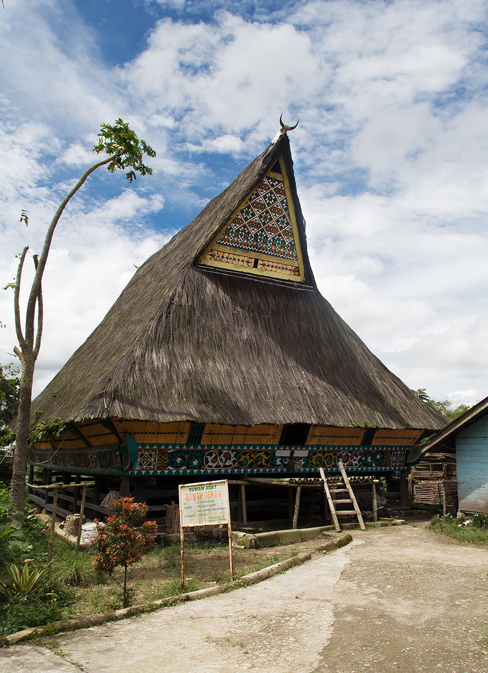 Sumatra, Batak House in Lingga