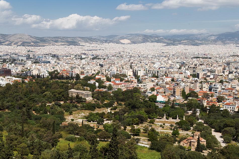 Athen, Blick von der Akropolis zum Hephaistostempel, Fabian Fröhlich