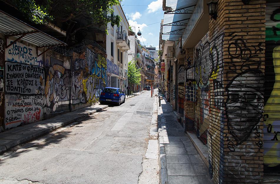 Fabian Fröhlich, Athen, Exarchia, Tzavella Street