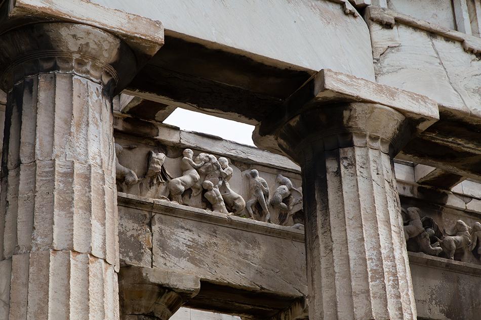 Athen, Relief am Tempel des Hephaistos, Fabian Fröhlich