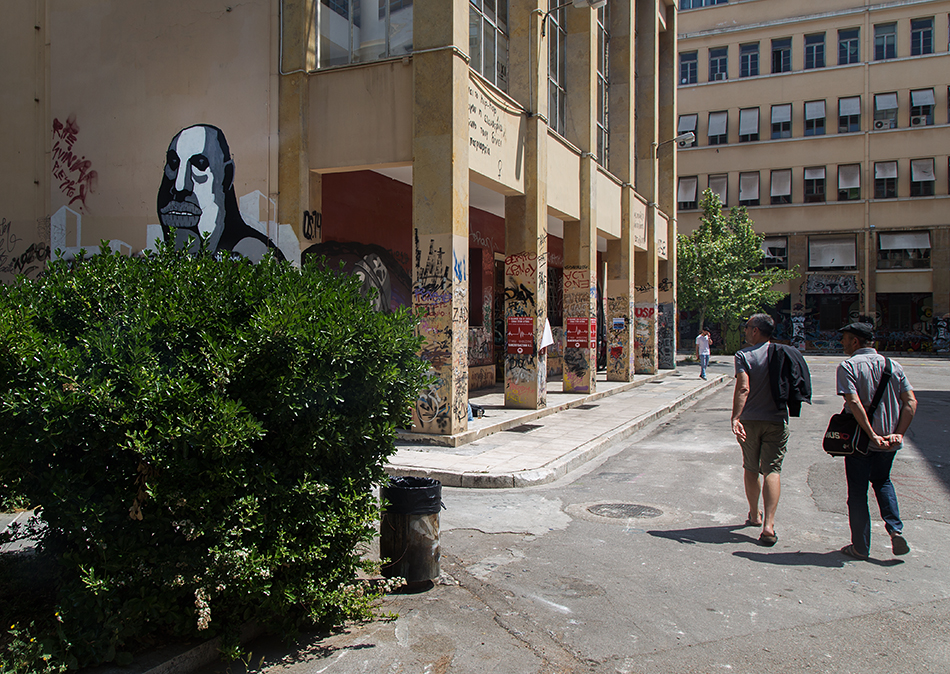 Graffiti at Polytechneiou, documenta 14, Athen, Fabian Fröhlich