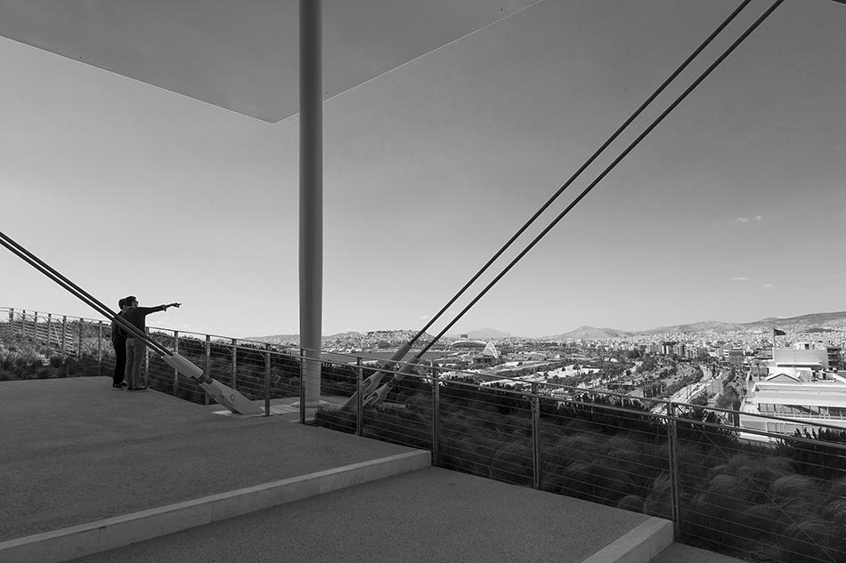 Athen, View from the Lighthouse, Stavros Niarchos Foundation Cultural Center von Renzo Piano
