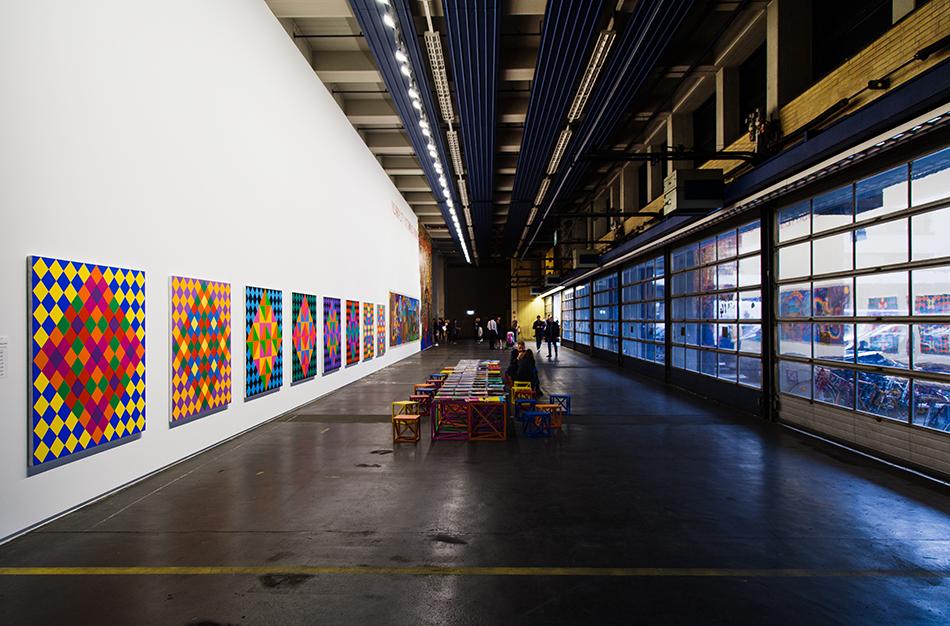 Fabian Fröhlich, Kassel, documenta 14, Neue Hauptpost, Rasheed Araeen, installation view