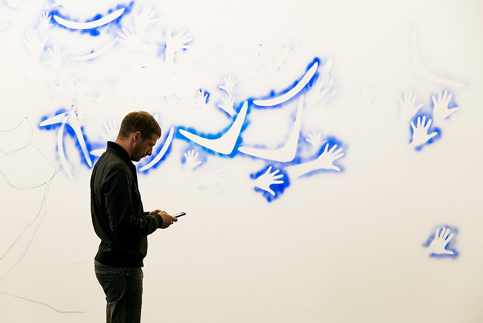 Fabian Fröhlich, documenta 14, Kassel, Dale Harding, Composite Wall Panel: Reckitt's Blue