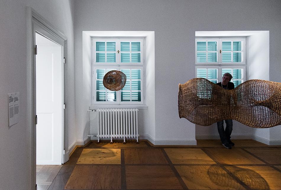 Fabian Fröhlich, documenta 14, Kassel, Abel Rodríguez, Fish Traps (Palais Bellevue)