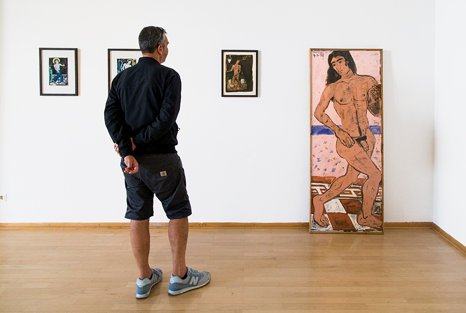 Fabian Fröhlich, documenta 14, Kassel, Yannis Tsarouchis, Nude Dancer with Long Hair (Museum für Sepulkralkultur)