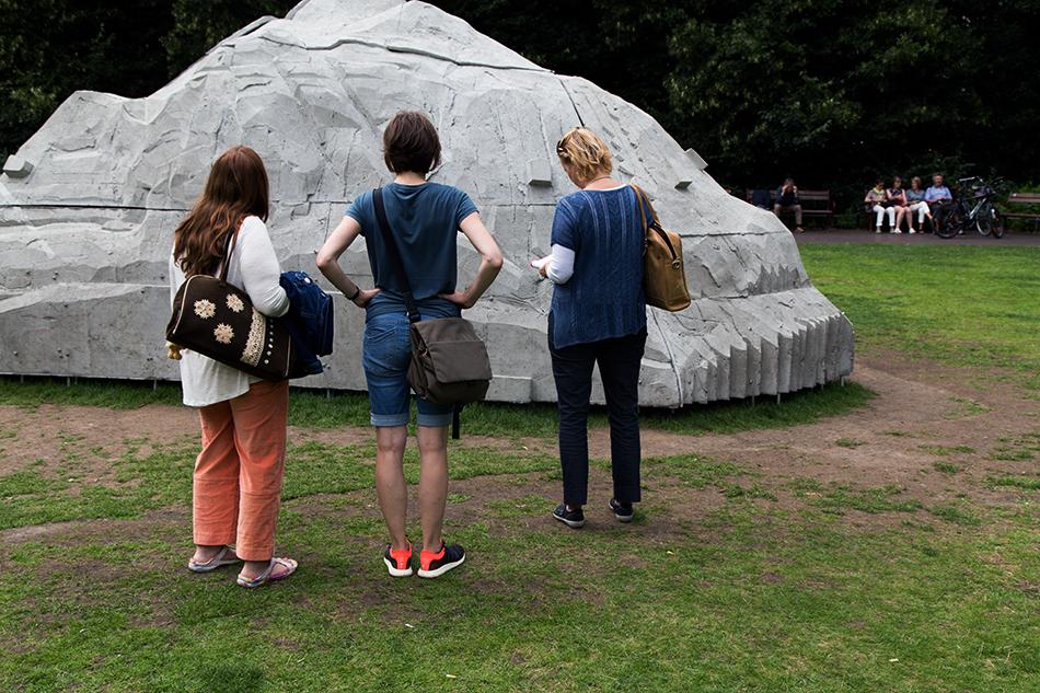 Fabian Fröhlich, Skulptur Projekte Münster, Justin Matherly, Nietzsche's Rock