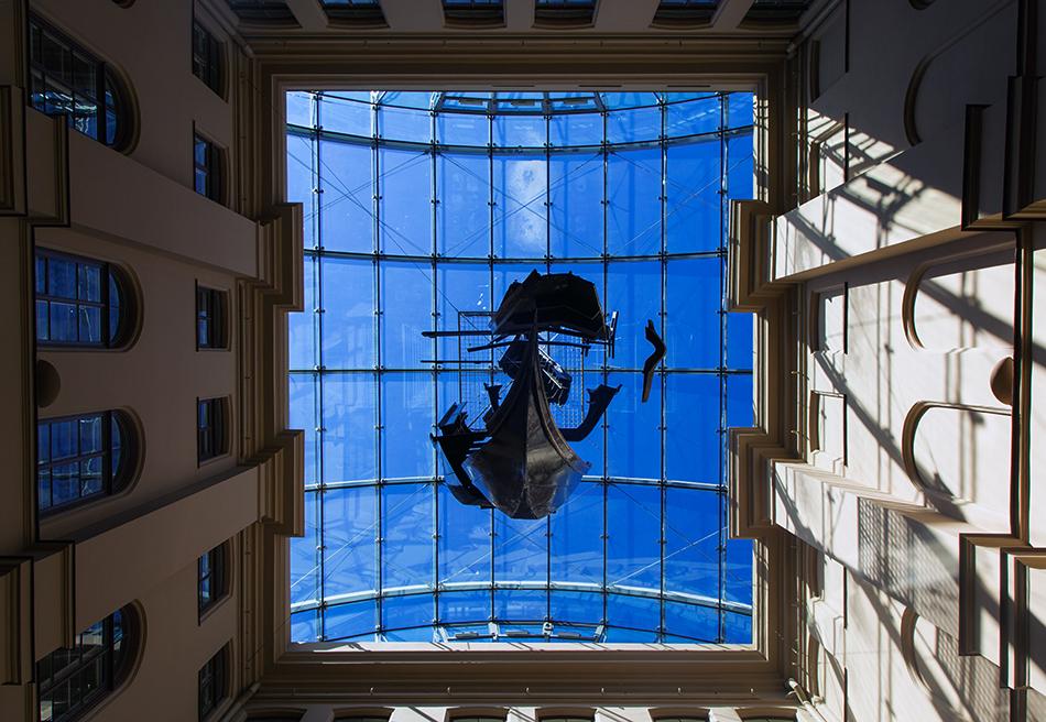 Riga, Historical Centre, Mākslas muzejs RĪGAS BIRŽA, Gondola by Dmitry Gutov