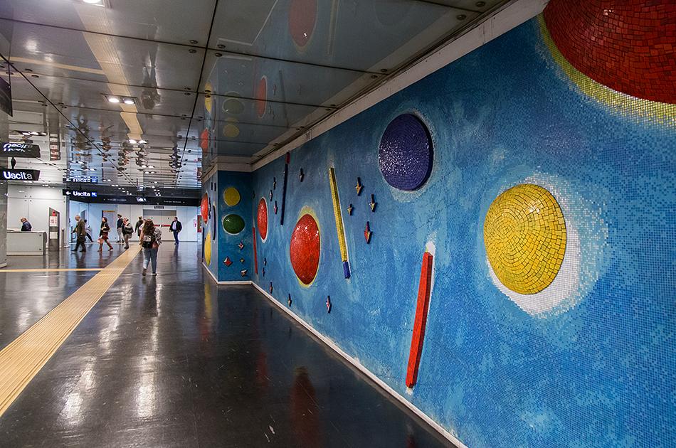 Neapel, Napoli, Metro Station, Dante
